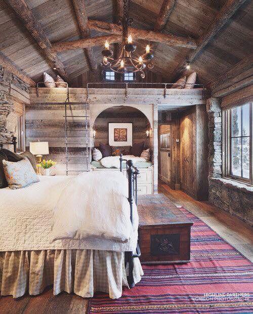 Duże drewniane domki, zwłaszcza w górach mogą być idealnym miejscem do aranżacji…