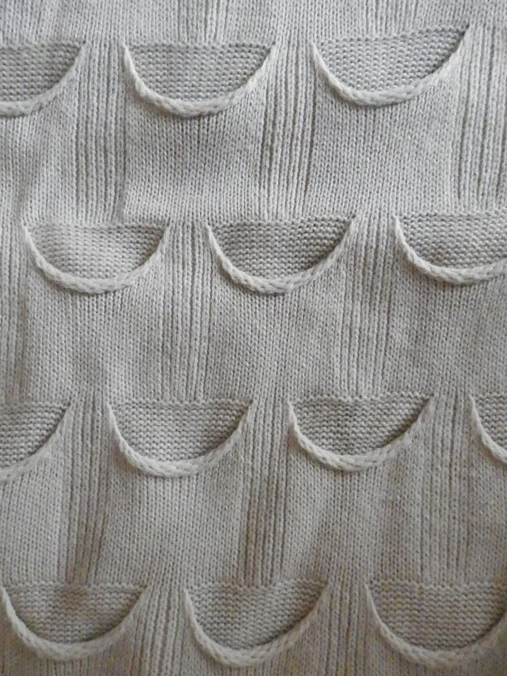 Place a row of these pockets around a child's sweater? Interesting textured knit design pattern.