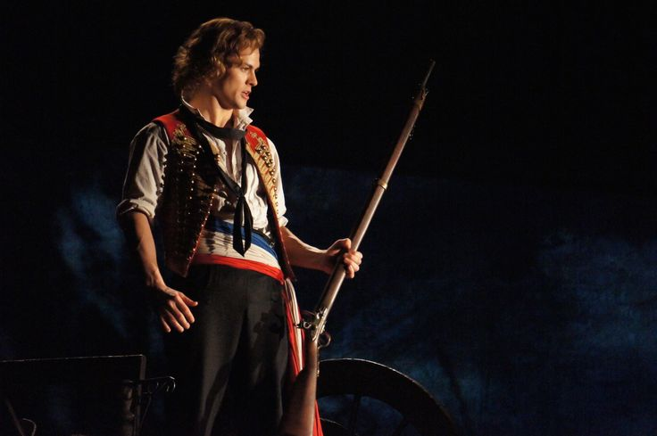 Enjolras played by Chris Durling 2015 Australia