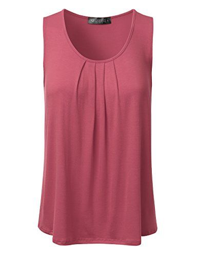 d0a27e29fa31 Pin by Rdchounds on WOMEN'S BLOUSE IDEALS | Pinterest | Tank tops, Scoop  neck and Loose fitting tank tops