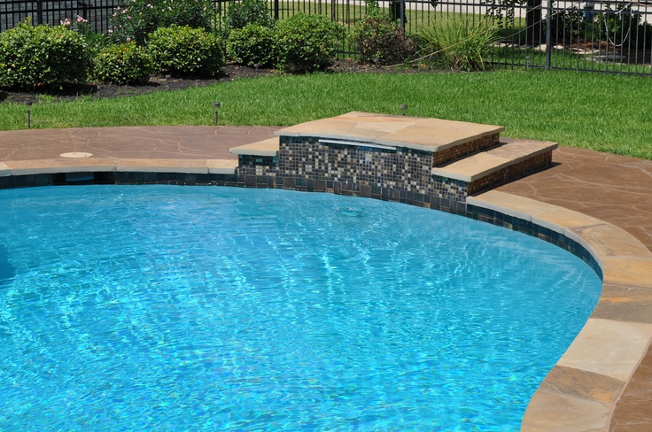 Diving Platform For The Kiddos With A Sheer Descent Built By Redman Residential Pools