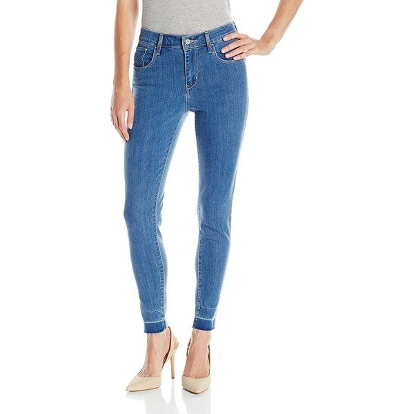 Levi's Women's High-Rise Skinny Jean ($40) ❤ liked on Polyvore featuring jeans, high rise jeans, high waisted skinny jeans, high waisted jeans, high waisted blue skinny jeans and high waisted denim skinny jeans