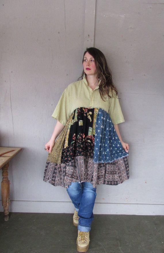Sale Bohemian dress Romantic tunic Eco by lillienoradrygoods