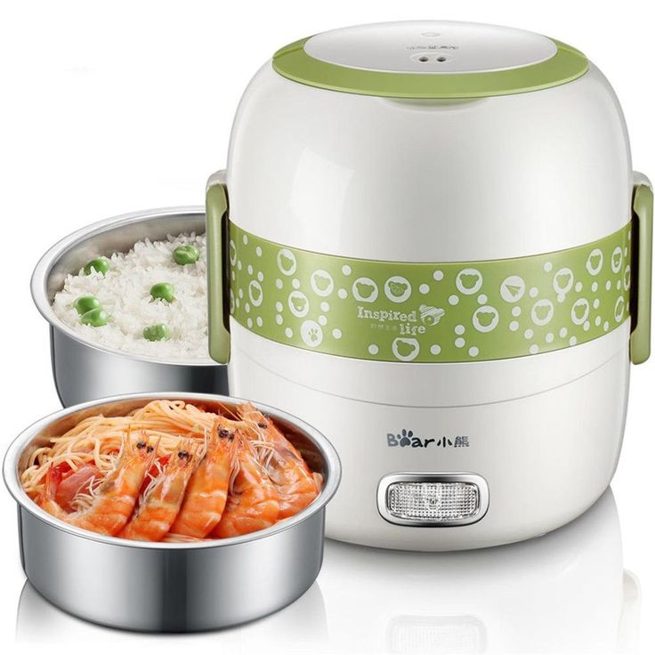 220V1.3L Portable Electric Mini Rice Cooker Double Layer Stainless Steel Lunch Box/Lunch Heater
