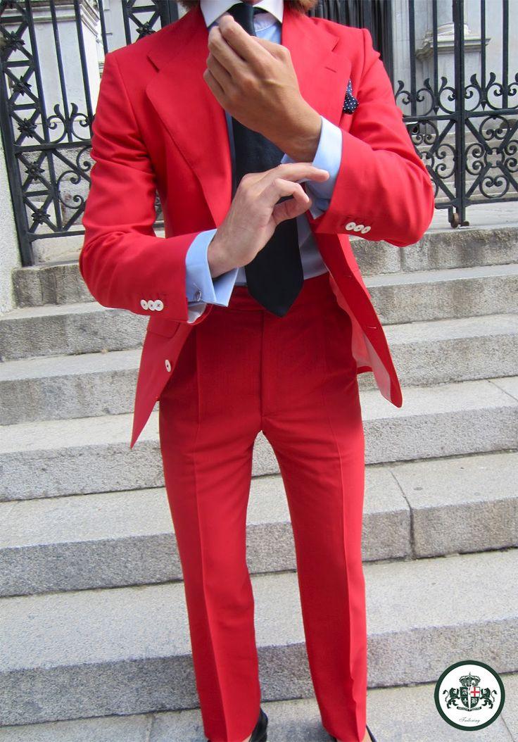 Absolute Bespoke Men S Fashion Red Dress Pants Mens