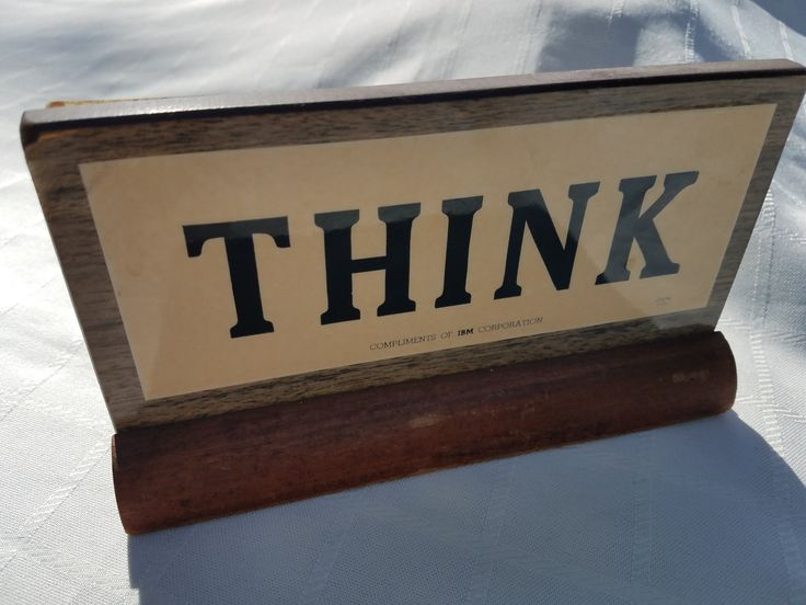 Think Desk Plaque Compliments of IBM Corporation by WeathervaneHill on Etsy