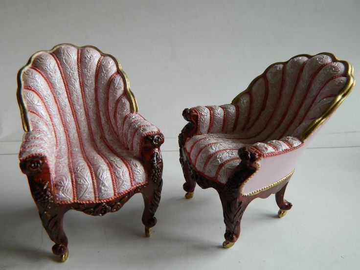 VERY RARE SLIPPER CHAIR BY ''TAKE A SEAT'' 1/12 TH SCALE DOLLSHOUSE BRAND NEW | eBay