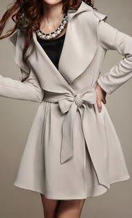 white leather coat