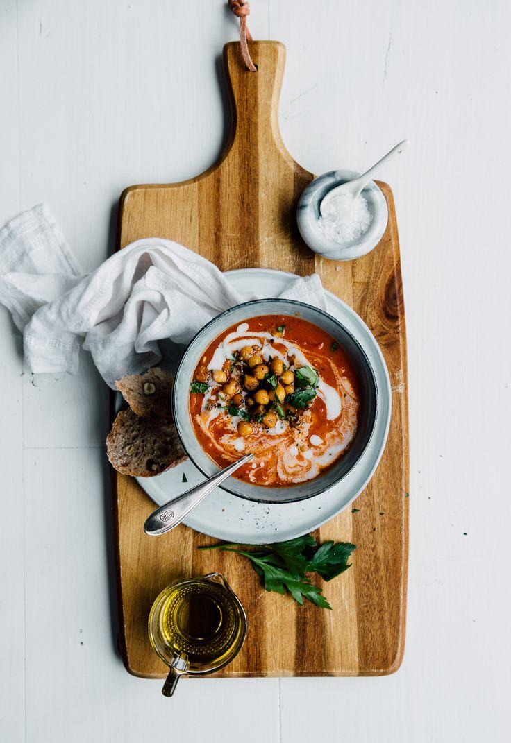 Tomato Soup with Smokey Chickpeas & Oregano | Cashew Kitchen