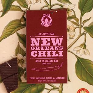 PINCHme Free Sample - Wild Ophelia® New Orleans Chili Dark Chocolate Bar Wild Ophelia® connects the American farmers' movement with chocolate.