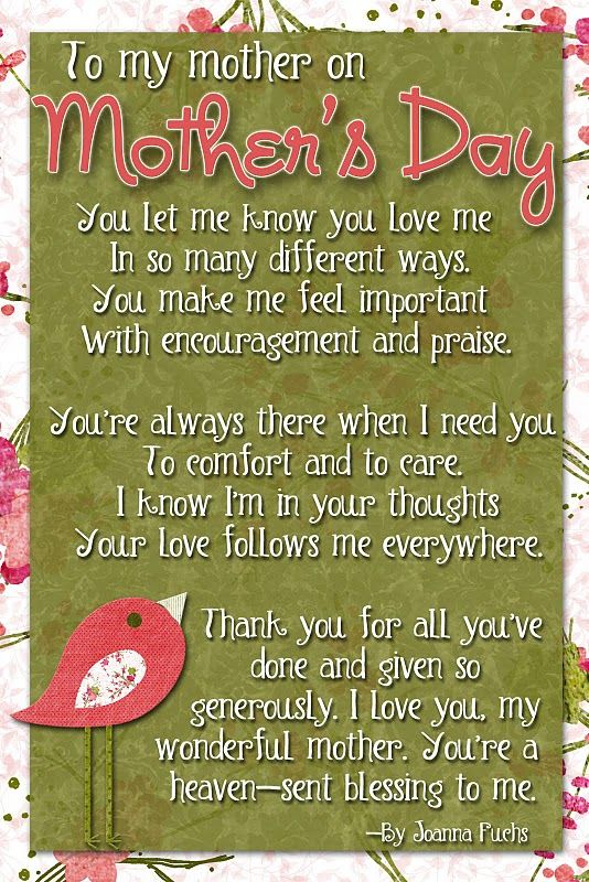 mothers day: Mothers S Father, Mothers Day Quotes, Mothers Day Gifts, Gifts Ideas, Happy Mothers, Miss You Mom, Love You Mom, Children Mothers Day Cards, Mothers Day Poem