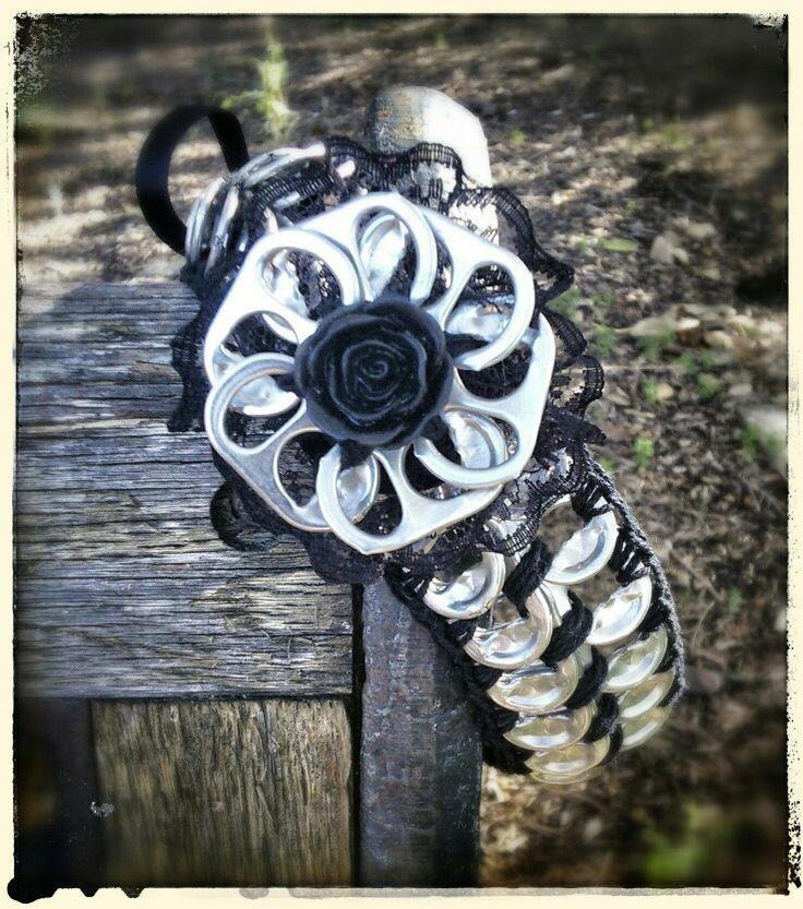 Choker made from aluminium can ring pulls (pop tabs)