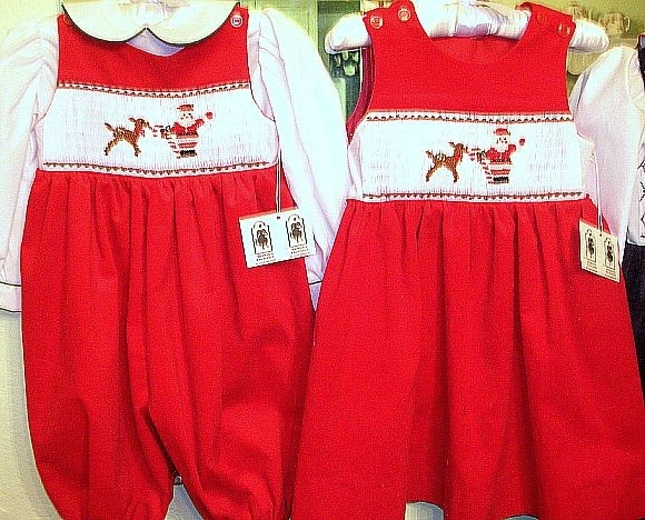 Smocked Christmas Outfits Matching Brother Sister 63