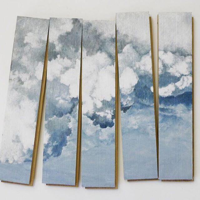 ➖ @gregorpodnar ~  Title:  untitled- (parquet boards) ~  Medium:  Oil on parquet boards ~  Artist:  Marzena Nowak   Galerija Gregor Podnar - Berlin ▪️ www.gregorpodnar.com ▪️