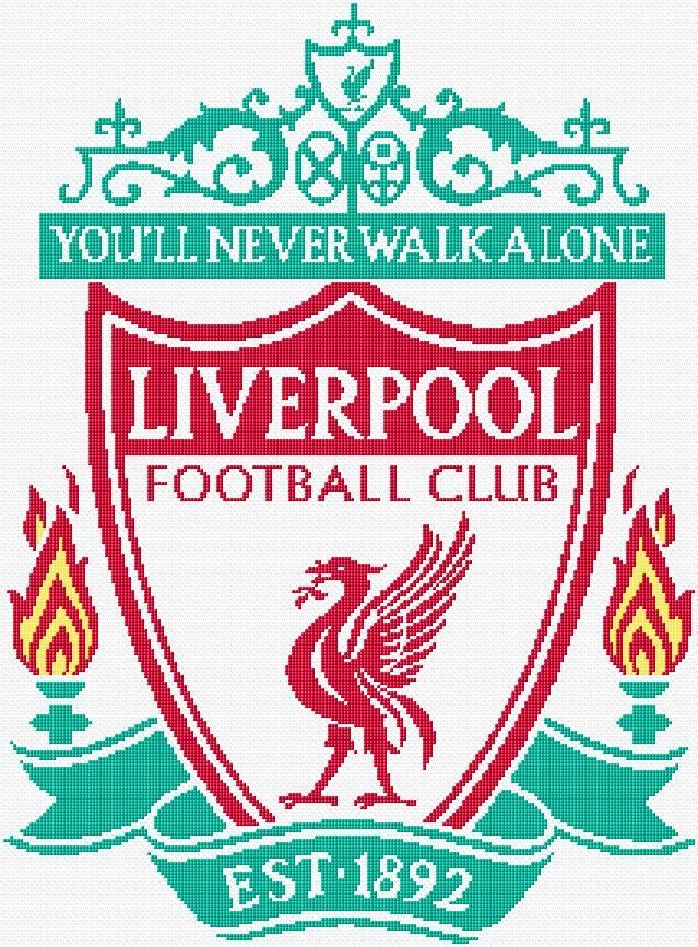 Cross Stitch | Liverpool Logo xstitch Chart | Design