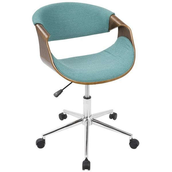 curvo mid century modern office chair in walnut wood and woven rh pinterest com