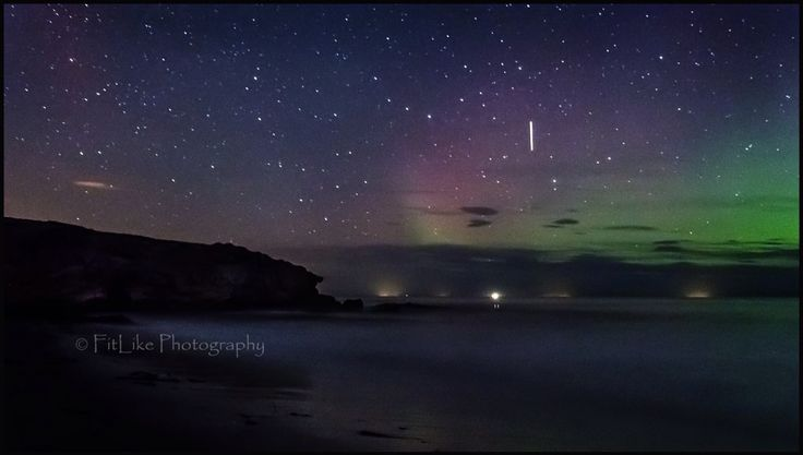 Covesea Cliffs. #moray #scotland #aurora #northernlights #beach #cliffs #stars