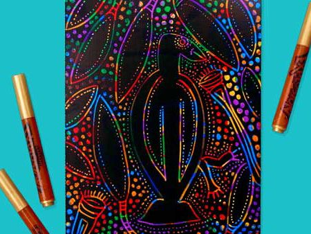 Ideal link to the history lesson of the Australian Aboriginees. Beautiful and effective artwork is the result of this lesson!