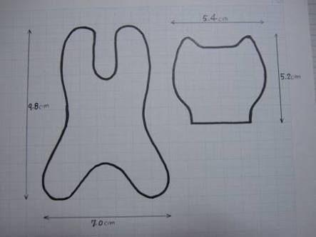 「型紙 作り方 ぬいぐるみ」の画像検索結果