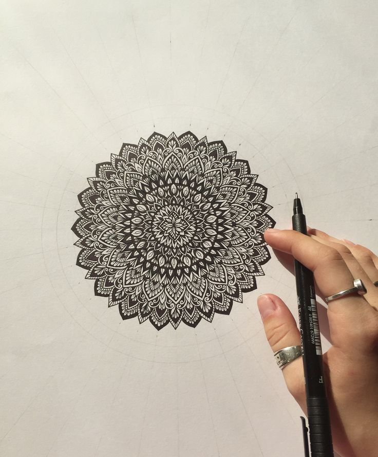 Mandala in progress... • @samschroederart • INSTAGRAM: samschroeds