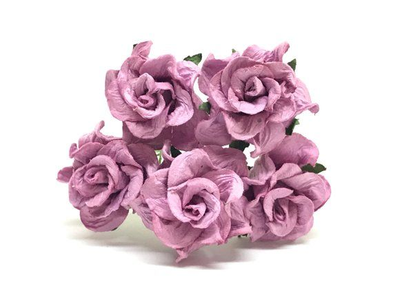 Purple Paper Rose Purple Paper Flowers Miniature Flowers