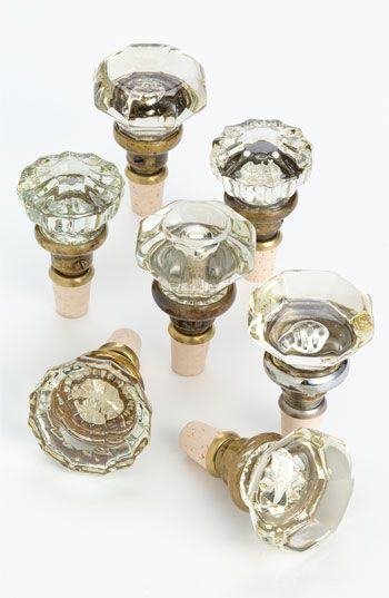 Knobstoppers Vintage Glass Door Knob Wine Stopper | Nordstrom. What an awesome gift idea! LOVE!