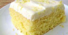 Ανάλαφρο κέικ λεμόνι με επικάλυψη κρέμας