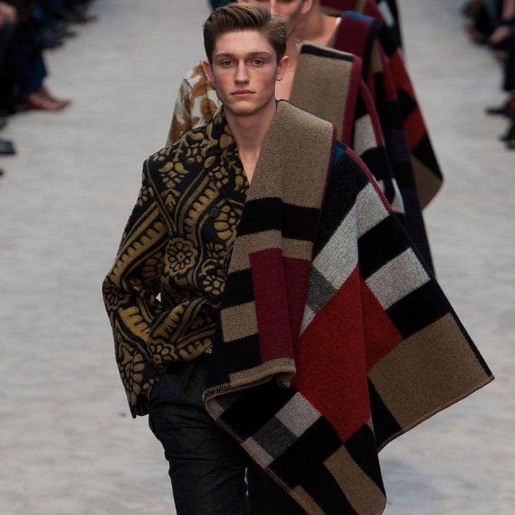 The Men Wore Blankets on Burberry's Runway