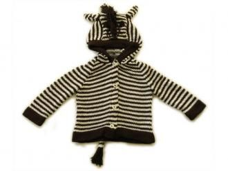 Zebra Play Sweater: organic cotton knit handmade by mothers in Kenya