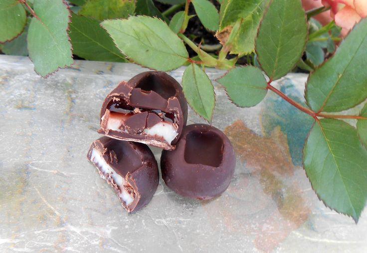 Cioccolatini ripieni (con amarena e cioccolato bianco)   Dolcementefrancy