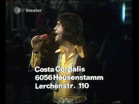 Costa Cordalis - Carolina, komm - poor guy has a broken foot.