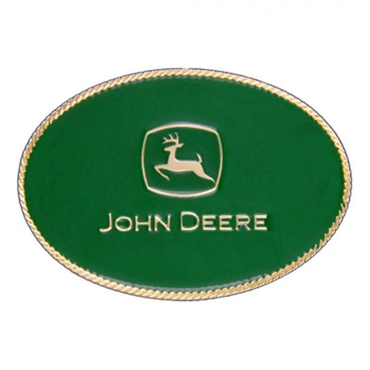 John Deere Gold Oval Logo Cast Buckle - Beltbuckles & Knives - Men's | RunGreen.com