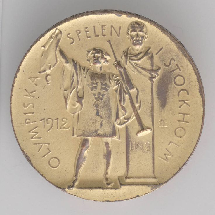 Gold medal awarded to Harold Hardwick (Australasia) for 4 x 200m. teams swimming relay, Olympic Games, Stockholm, 1912 (obverse). State Library of New South Wales: http://www.acmssearch.sl.nsw.gov.au/search/itemDetailPaged.cgi?itemID=423872 (R 295 / f)