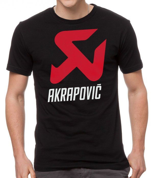 Cool+Tshirt+AKRAPOVIC+RACING+Black+Men's+T-Shirt