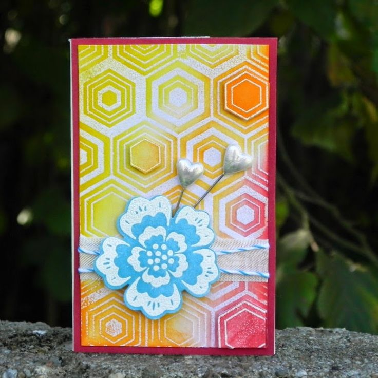 Mini card, summer colours
