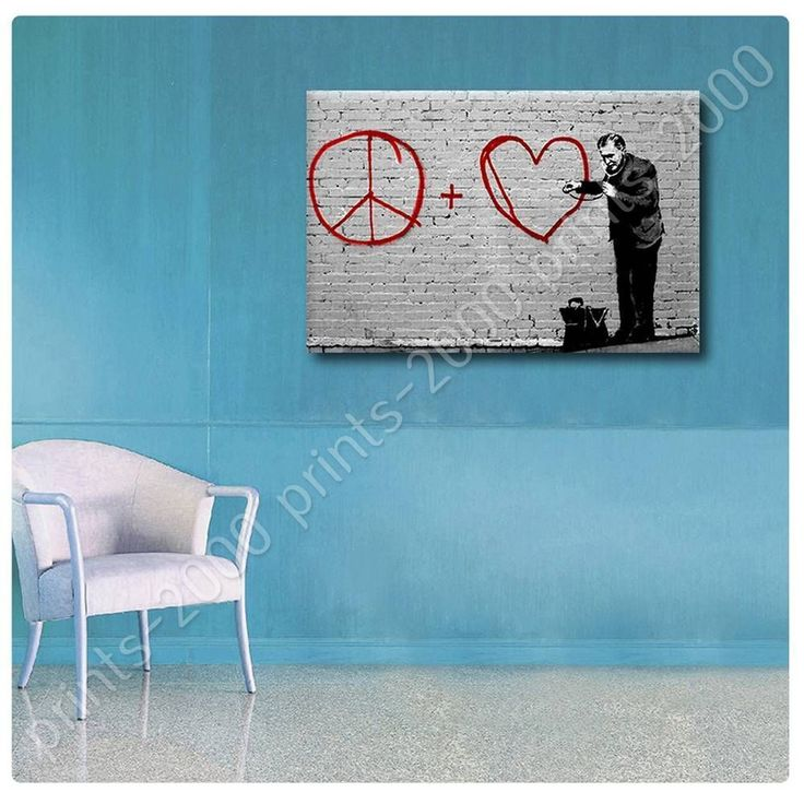 Poster Or Sticker Decals Vinyl Peace Love Doctor Banksy Posters For Kitchen