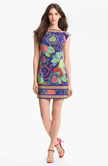 Trina Turk Handbags | Trina Turk 'Felana' Print Jersey Shift Dress | Nordstrom