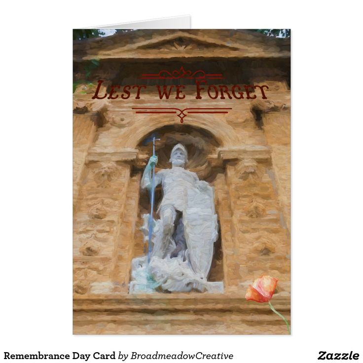 Remembrance Day Card featuring Lichfield City War Memorial.