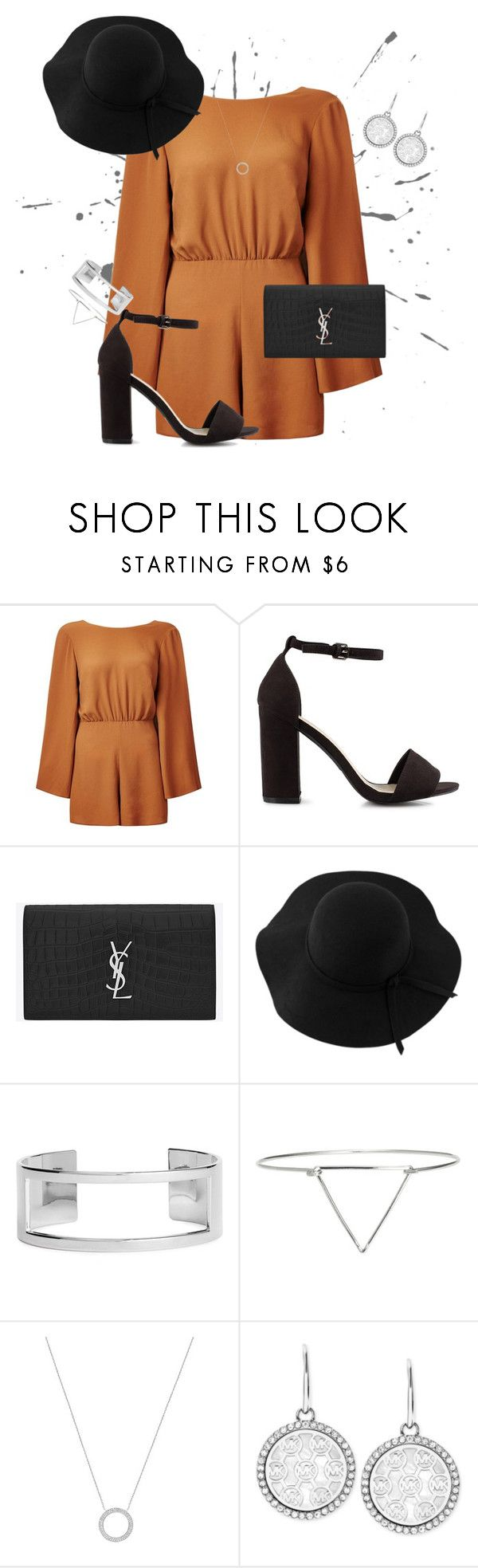 """""""SB-2016"""" by louisesandstroms on Polyvore featuring New Look, Nly Shoes, Yves Saint Laurent, Sans Souci, H&M and Michael Kors"""