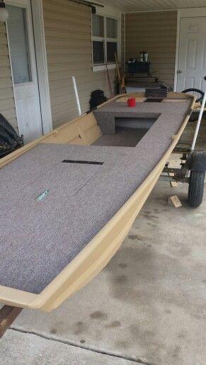 Side rod storage on the jon boat                                                                                                                                                     More