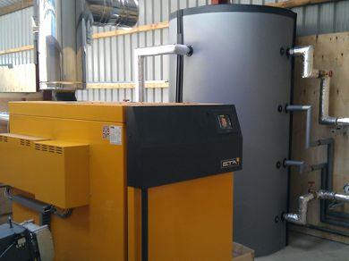 Biomass Wood chip boiler Bala, Gwynedd
