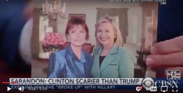 WATCH: Former Friend of Hillary–Susan Sarandon Says She Trusts TRUMP More Than CLINTON