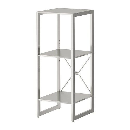 Limhamn Shelving Unit Ikea Shelf In Stainless Steel Hygienic Strong And Durable Surface That Is Easy To Clean Hy Modern Decor Small Es