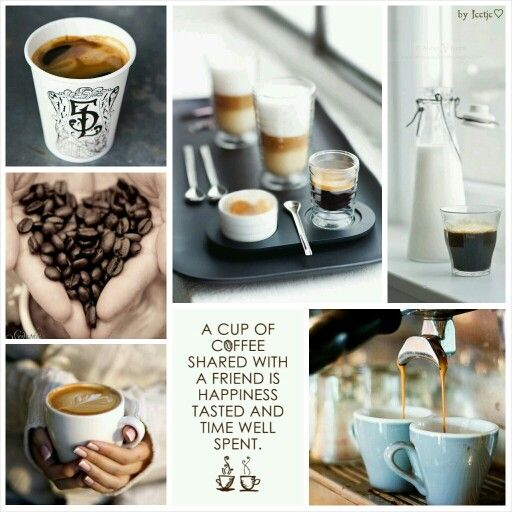 Coffee is Happiness. #moodboard #mosaic #collage #byJeetje♡
