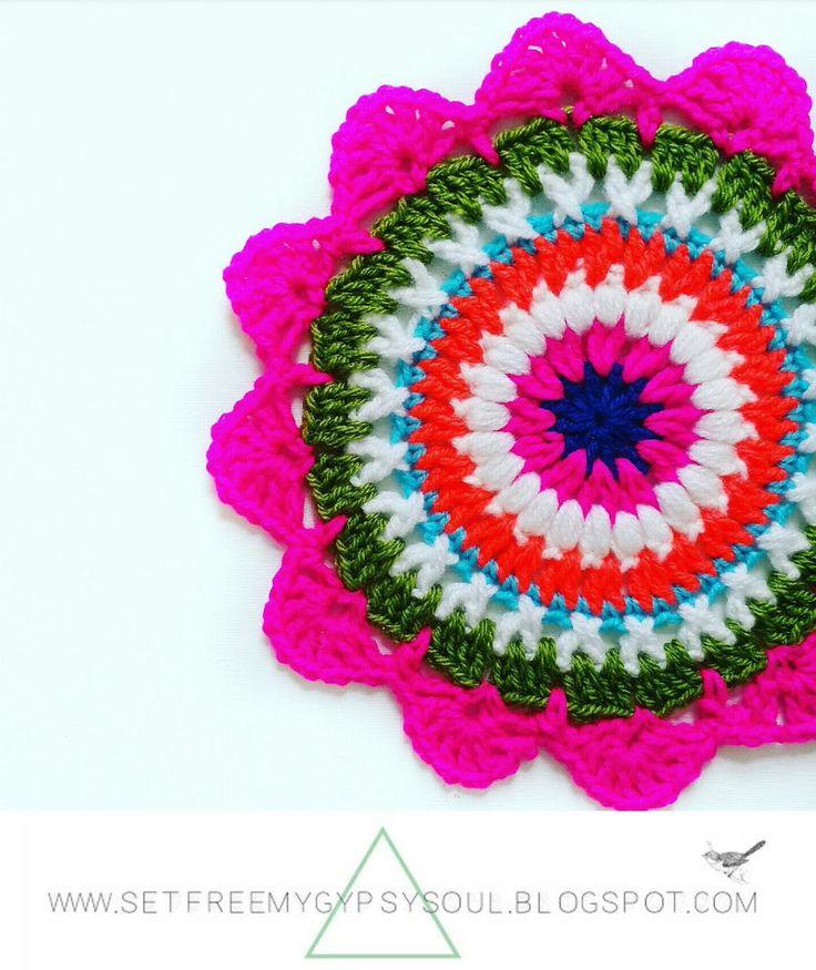 320 besten Crochet Mandala & Patterns Bilder auf Pinterest ...