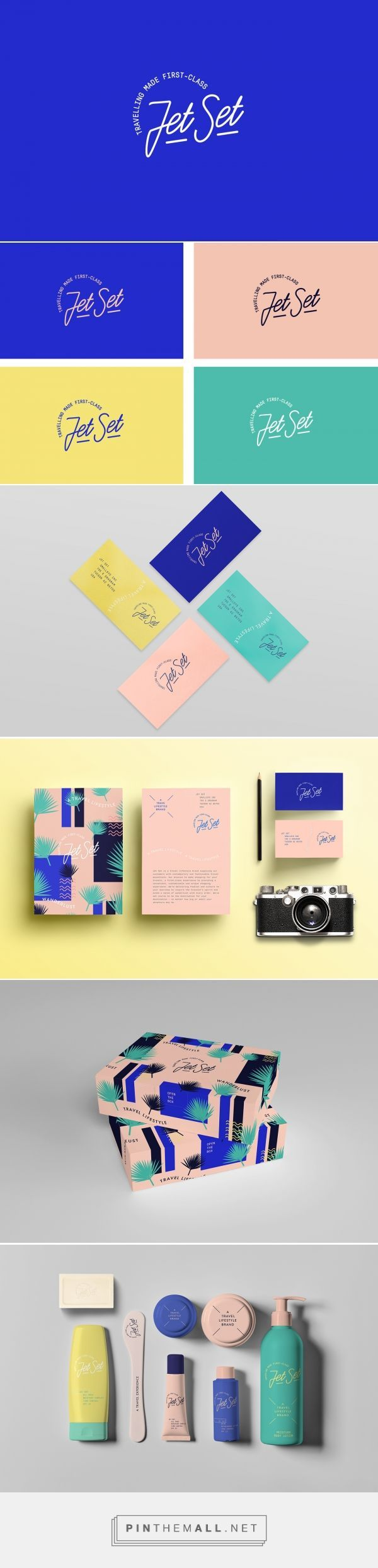 Jet Set on Behance by Bunker3022 -, Buenos Aires, Argentina curated by Packaging Diva PD. A travel kit brand which aims at young people of a certain buying level, that like to travel to exotic places but do not choose hotels for lodging, and consequently need travel kit with cosmetics.