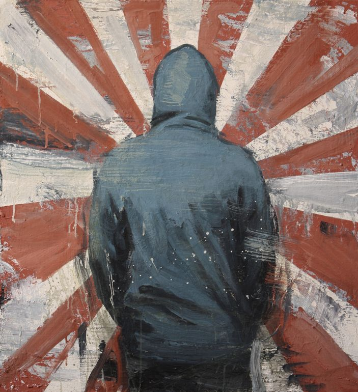 "Saatchi Online Artist: Kjetil Jul; Oil, 2012, Painting ""Hoodie"""
