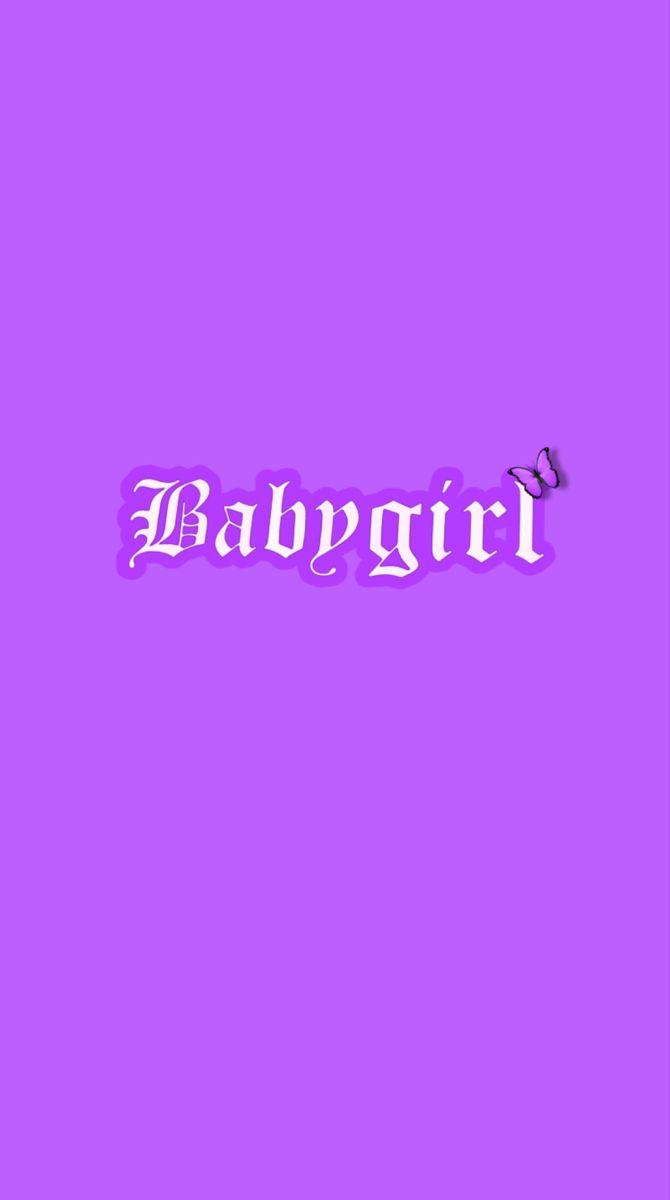 Pin By 𝑀𝐼𝐶𝐻𝐸𝐿𝐿𝐸 On Wallpapers Dark Purple Wallpaper Baby Girl Wallpaper Bad Girl Wallpaper