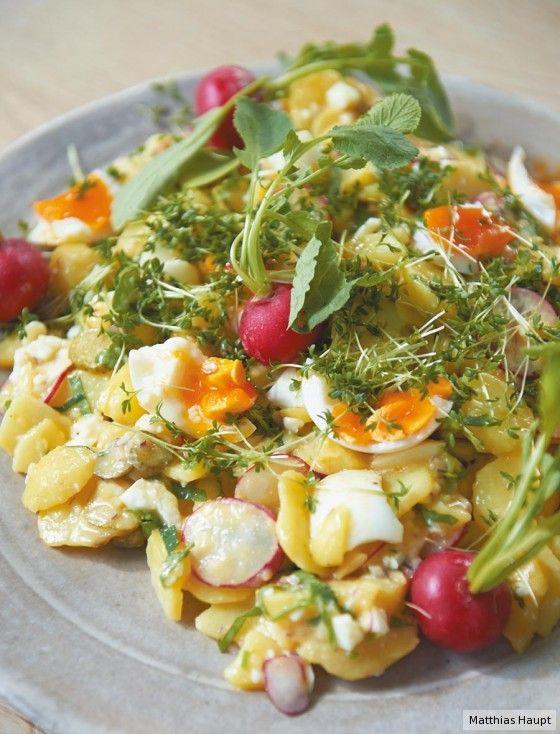 Herzhafter salat mit fleisch