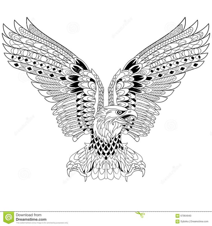 Zentangle Stylized Eagle - Download From Over 42 Million High Quality Stock Photos, Images, Vectors. Sign up for FREE today. Image: 67964940